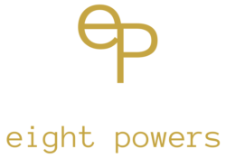 infusions tisanes marque eight powers -illustration produits naturels et biologiques - logo